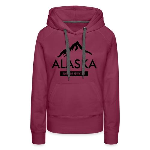 Alaska long dark - Felpa con cappuccio premium da donna