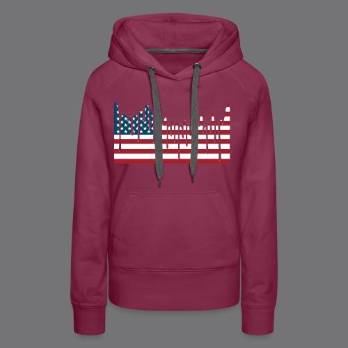 USA FLAG Tee Shirts - Women's Premium Hoodie