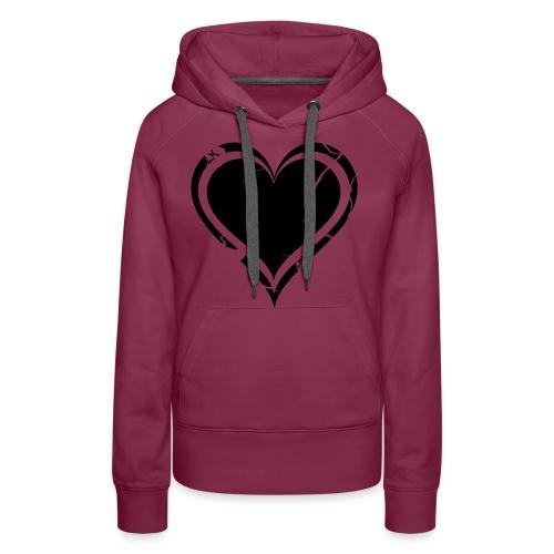 Heart - Naisten premium-huppari
