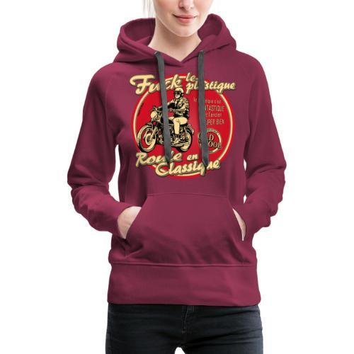 N 181 FUCK - Sweat-shirt à capuche Premium pour femmes