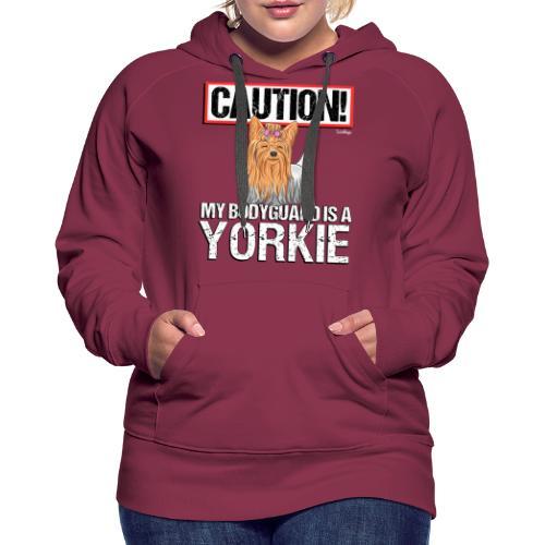 Yorkie Bodyguard - Naisten premium-huppari