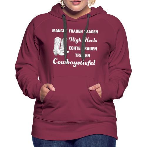 Cooles Line Dance Sprüche Shirt mit High Heels - Frauen Premium Hoodie