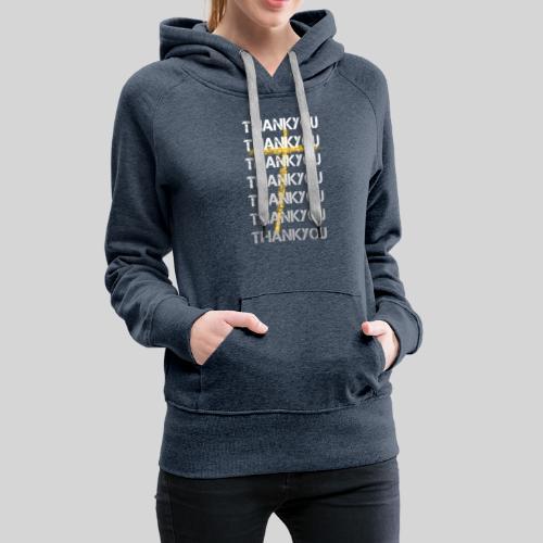 DANKE Jesus, das Geschenk für Christen THANKYOU - Frauen Premium Hoodie