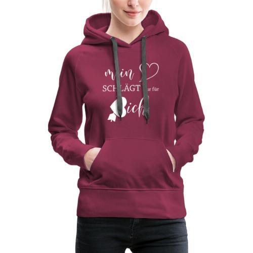 Mein Herz schlägt nur für dich, Valentinstag - Frauen Premium Hoodie