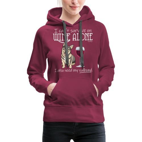 Wine Alone Vallhund - Naisten premium-huppari
