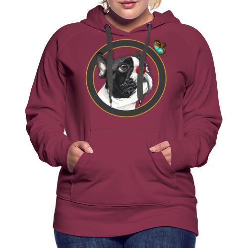 Chien - Sweat-shirt à capuche Premium pour femmes