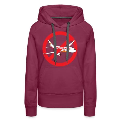Flygskam - Honte de prendre l'avion - Sweat-shirt à capuche Premium pour femmes
