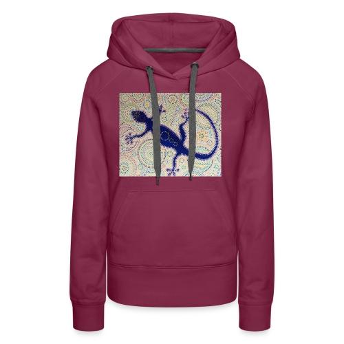 Blue Gekko - Sweat-shirt à capuche Premium pour femmes