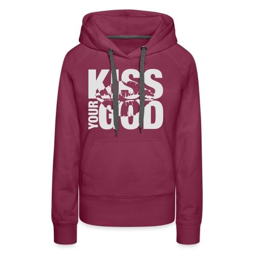 Kiss your God (weiß) - Frauen Premium Hoodie