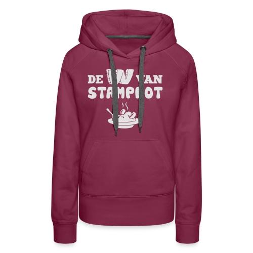 De W van Stamppot - Vrouwen Premium hoodie