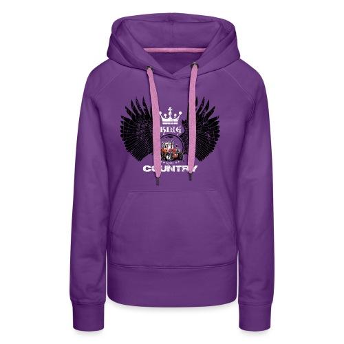 WINGS King of the country zwart wit op rood - Vrouwen Premium hoodie