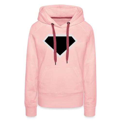 Diamond Black - Two colors customizable - Vrouwen Premium hoodie