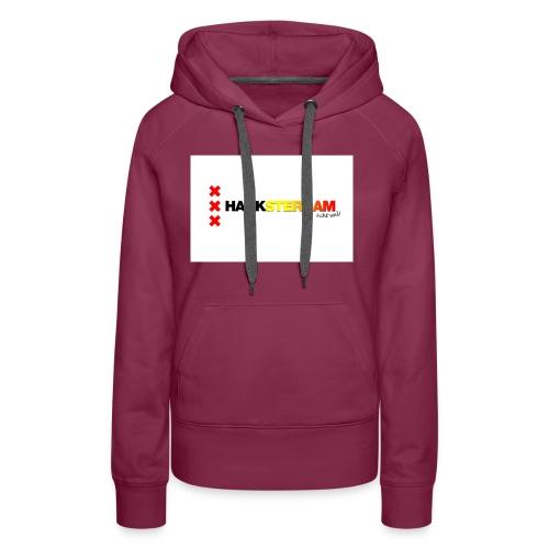 Hanksterdam! Echt wel! - Vrouwen Premium hoodie