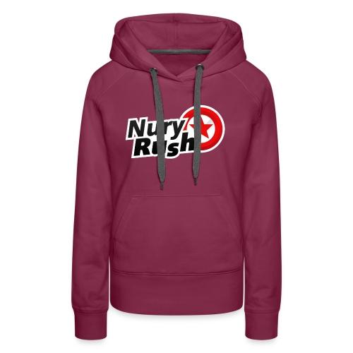 NuryRush Logo png - Felpa con cappuccio premium da donna