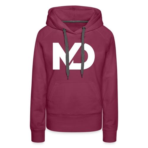 logo_wit - Vrouwen Premium hoodie