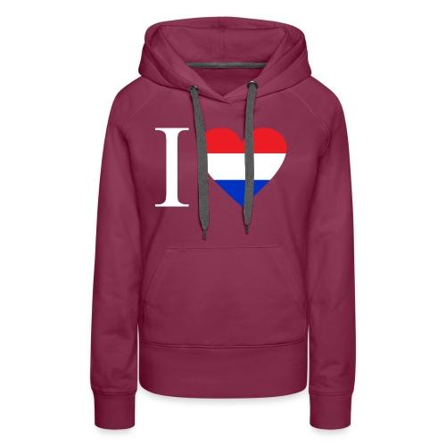 Ik hou van Nederland | Hart met rood wit blauw - Vrouwen Premium hoodie
