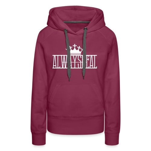 AlwaysReal Weiss - Frauen Premium Hoodie