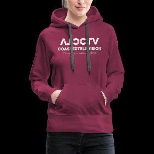 CTV Logo Wihte - Frauen Premium Hoodie