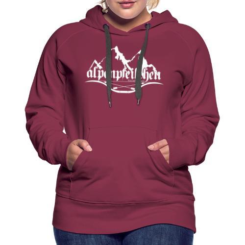 Alpenpfeilchen - Logo - white - Frauen Premium Hoodie