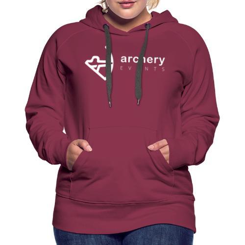 Archery Events Logo white - Frauen Premium Hoodie