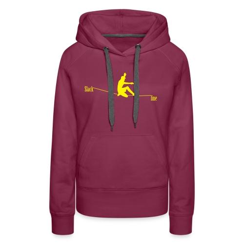 Slackline - Sweat-shirt à capuche Premium pour femmes