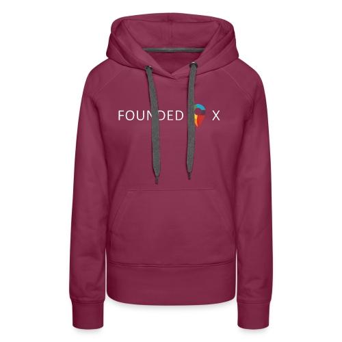 FoundedX logo white png - Women's Premium Hoodie