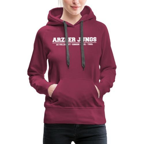 Arzler Jungs Schriftzug weiß - Frauen Premium Hoodie