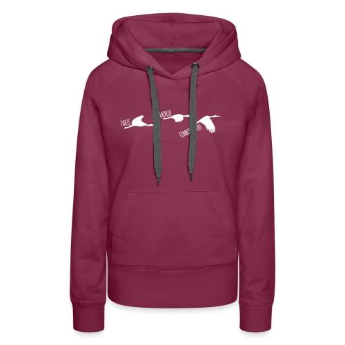 3 horizons oiseaux white - Sweat-shirt à capuche Premium pour femmes