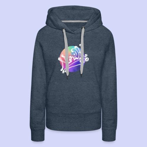 pastel rainbow, NuniDK Collection - Female top - Dame Premium hættetrøje