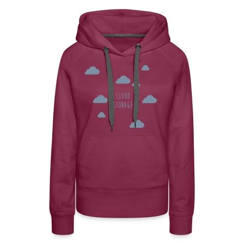 Cloud Storage - Frauen Premium Hoodie