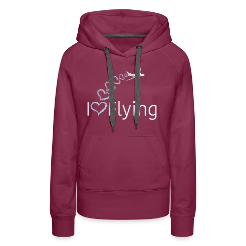 I love flying wit3 - Women's Premium Hoodie