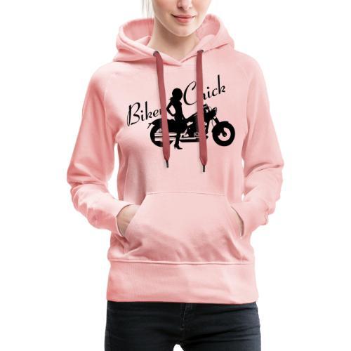Biker Chick - Custom bike - Naisten premium-huppari