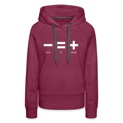 Less Is More WHITE - Women's Premium Hoodie