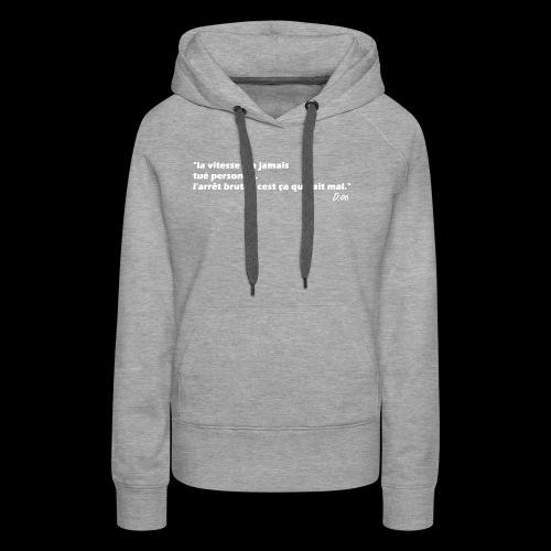 vitesse (blanc) - Sweat-shirt à capuche Premium pour femmes
