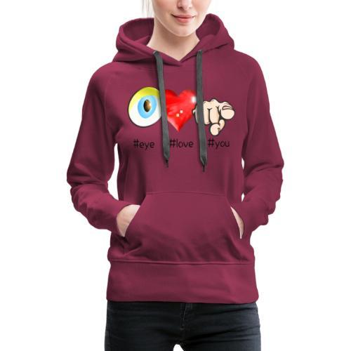 MANGA ET HASHTAG - Sweat-shirt à capuche Premium pour femmes