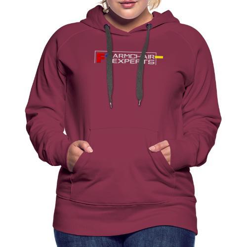 F1 Armchair Expert Official Logo WHT - Women's Premium Hoodie