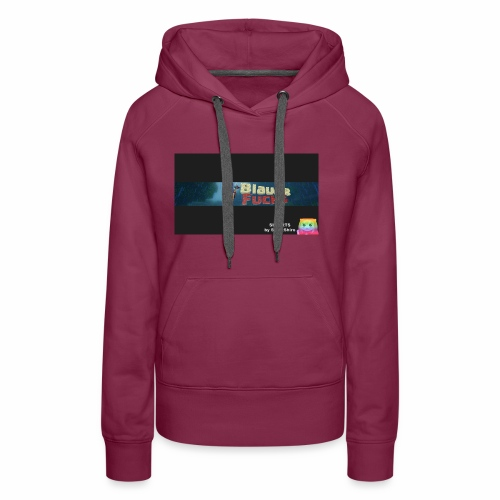 Minecraft Banner / BlauerFuchs - Frauen Premium Hoodie