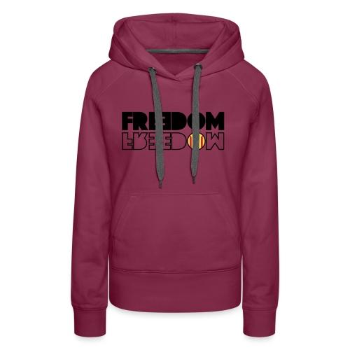 FREEDOM CATALONIA (RED EDITION) - Sudadera con capucha premium para mujer