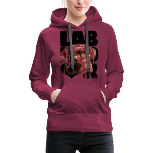 NASSU Labrador Brown IV - Naisten premium-huppari