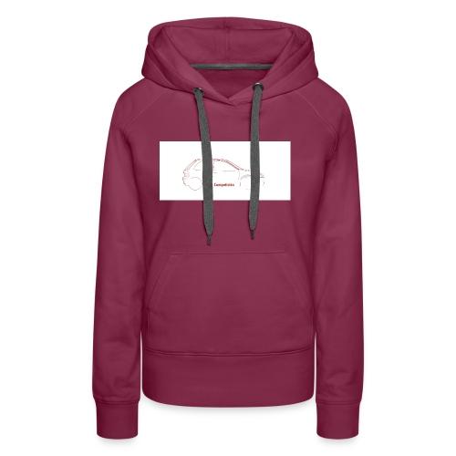 logo lcocompeticion - Sudadera con capucha premium para mujer
