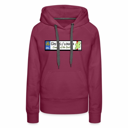 CO. LOUTH, IRELAND: licence plate tag style decal - Women's Premium Hoodie