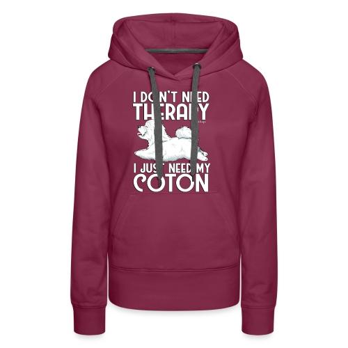 Coton De Tuléar Therapy03 - Women's Premium Hoodie