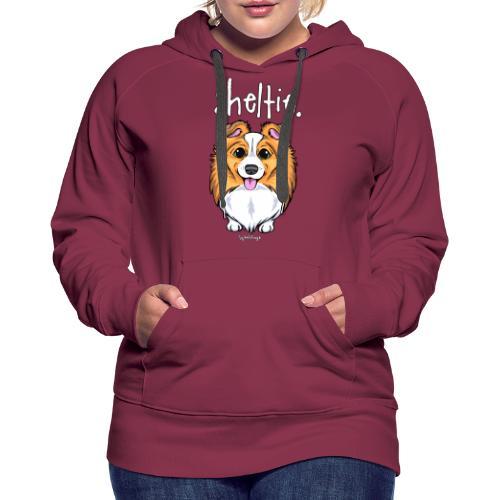 Sheltie Dog Cute 5 - Naisten premium-huppari