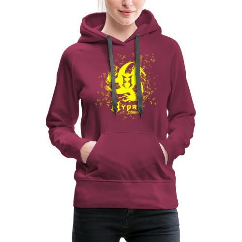 Hydra Design - logo glass explosion - Felpa con cappuccio premium da donna