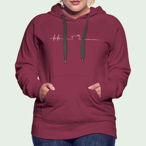 Herzschlag - Frauen Premium Hoodie