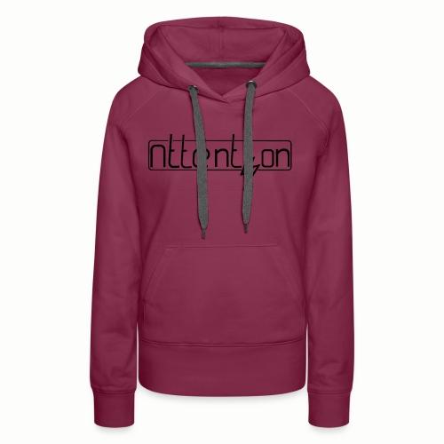 attention - Vrouwen Premium hoodie