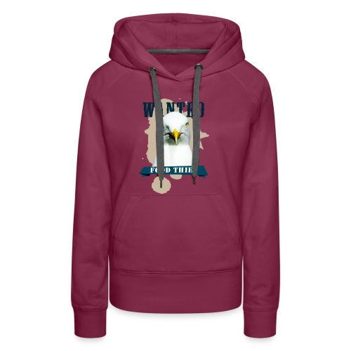 WANTED - FOOD THIEF - Frauen Premium Hoodie
