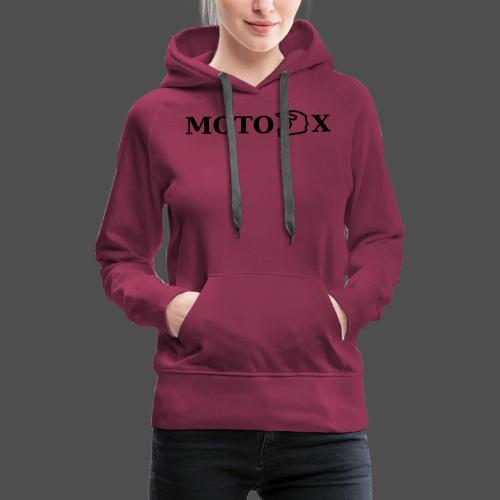 moto x - Bluza damska Premium z kapturem