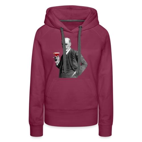 Sigmund Freud mit Cocktail - Frauen Premium Hoodie