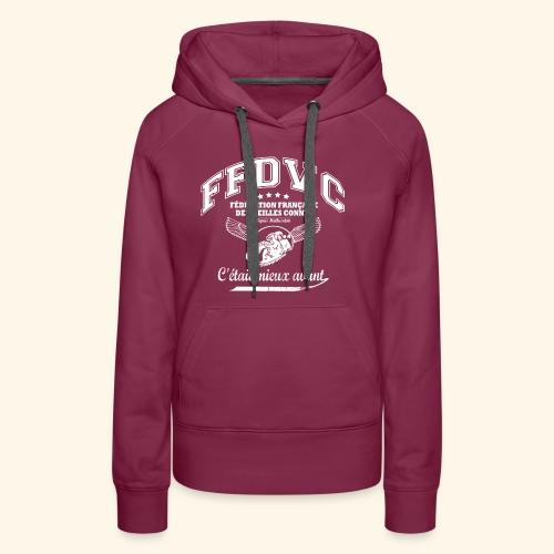 Fédération Française des Vieilles Connes - Sweat-shirt à capuche Premium pour femmes